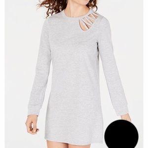 Black Material Girl long sleeve dress